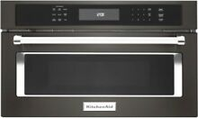 KitchenAid KMBP107EBS 27  Black Stainless Built In Convection Microwave Oven