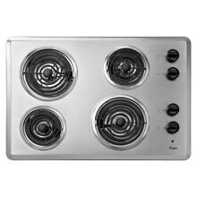 Whirlpool WCC31430AR 30  Stainless Electric Cooktop NOB  32631 HRT