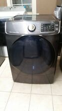 SAMSUNG 7 5 CF 14 CYCLE GAS DRYER BLACK STAINLESS STEEL DV45K6500GV NEW OPEN BOX