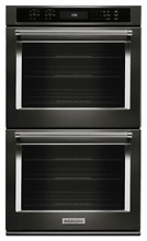 KitchenAid 30  NEW  Convection Black Stainless Double Wall Oven KODE500EBS 03