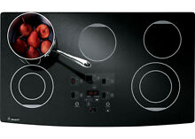 GE MONOGRAM ZEU36RBF1BB 36  TOUCH CONTROL ELECTRIC COOKTOP BLACK