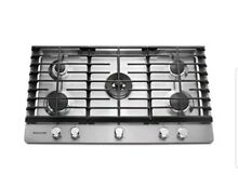 KitchenAid 36  Stainless Natural Gas 5 Burner Cooktop  KCGS556ESS