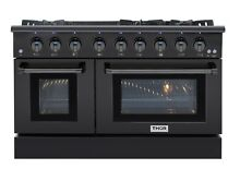 Thor Kitchen Black Stainless Steel 48  Gas Range  new design Free Standing