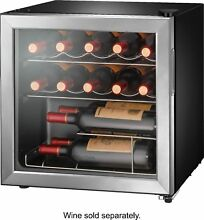 Insignia  14 Bottle Wine Cooler   Stainless steel