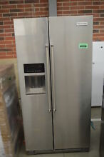 KitchenAid KRSC503ESS 36  Stainless Side By Side Refrigerator NOB  33577 MAD