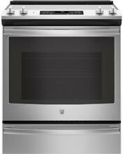 GE JS760SLSS 30  Stainless Steel Electric Range NOB  33721 HRT