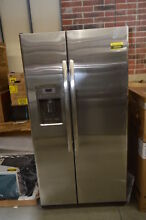 GE GZS22DSJSS 35 75  Stainlessl Side By Side Refrigerator NOB  33748 HRT