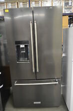 KitchenAid KRFC704FBS 36  Black Stainless French Door Refrigerator NOB  33902