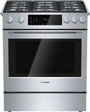 Bosch HDI8054U 800 Series 30  Slide in Dual Fuel Range 5 Burners 4 6 Cuft NEW