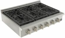 Kucht Professional KRT361GU 36 in Gas Range Top 6 Sealed Burners Stainless Steel