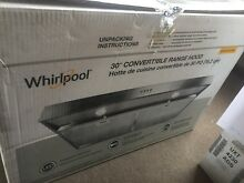 Whirlpool   30  Convertible Range Hood Stainless Steel WVU37UC0FS NEW OPEN BOX