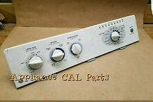 175d4490g003 GE Washer console with Control Board and knobs