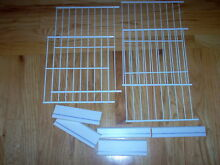 GE Refrigerator 3 Large White Metal Wire Freezer Shelf Rack 4 SET WR71X10715 EUC
