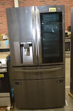 LG LMXC23796D 36  Black Stainless French Door CD Refrigerator NOB  32939 HRT