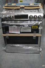 Samsung NX58K9850SS 30  Stainless Double Oven Slide In 5 Burner Gas Range  28953
