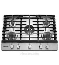 KitchenAid KCGS550ESS 30  Stainless Gas Cooktop NOB  36830 HRT