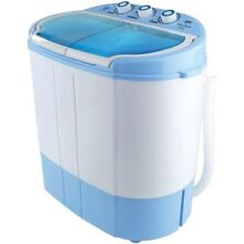 Compact Portable Washer   Dryer with Mini Washing Machine and Spin Dryer White z