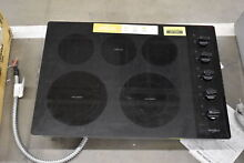 Whirlpool WCE77US0HB 30  Black 5 Burner Electric Cooktop NOB  37101 HRT