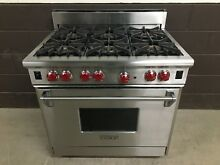 Wolf 36  Professional Gas Range Stove 6 Burners Stainless Steel
