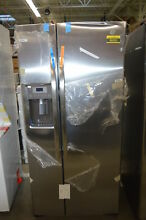 GE GSS23GSKSS 33  Stainless Side By Side Refrigerator NOB  34178 HRT