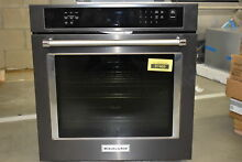 KitchenAid KOSE507EBS 27  Black Stainless Single Wall Oven NOB  37469 HRT