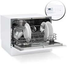 Stainless Steel Kitchen Dishwasher W  6 Place Setting Compact Design