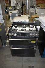 GE CGS995EELDS 30  Black Slate Slide In Double Oven Gas Range NOB  37890 HRT