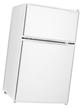 Midea WHD 113FW1 Compact Reversible Double Door Refrigerator and Freezer  White