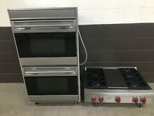 2 pc set  Wolf Range Top 36  SRT364G and Wolf 30  Doble Wall Oven DO30U P
