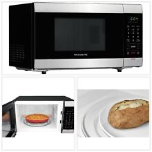 MICROWAVE OVEN 1 1 Cu  Ft  Stainless Steel 10 Cooking Power Levels Ready Control