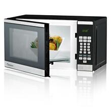 IMPECCA 0 7 CU  FT  700 Watt Countertop Microwave Oven  Stainless Steel