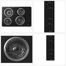Electric Cooktop Stove Mounted Heavy Duty Adjustable Heat Durable Whirlpool