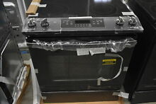 GE JS645FLDS 30  Black Slate Print Resistant Slide In Electric Range  38694 CLW