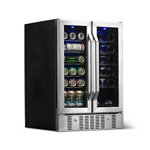 NewAir Wine   Beverage Cooler Built In Dual Zone   AWB 360DB   Stainless Steel