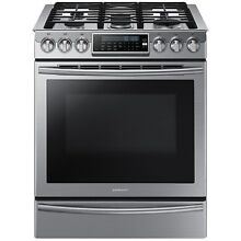 Samsung Stainless Steel 30  Gas Slide In Range Convection NX58H9500WS