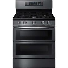 Samsung Black Stainless Steel 30  Gas Freestanding Range Convection NX58K7850SG