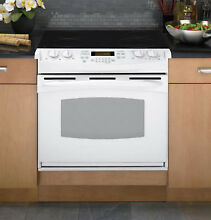 GE PD900DPWW 30  White Drop In Electric Smoothtop Range Oven NIB  6956