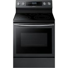 Samsung Black Stainless 30  Electric Freestanding Range Convection NE59N6650SG
