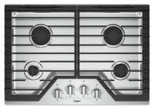 Whirlpool WCG55US0HS 30  Stainless 4 Burner Gas Cooktop NOB  32001 CLW