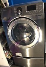 Samsung 3 9 cu ft High Efficiency Front Load Washer  Platinum  WF448AAP