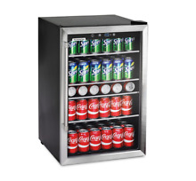 Mini Fridge With Glass Door Beverage Center 126 Can For Bedroom Office