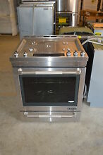 Jenn Air JGS1450DP 30  Stainless Gas Freestanding Slide In Range NOB  15814 CLW