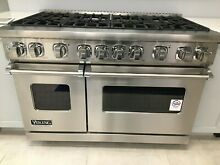 Viking VGR7488BSS02 48  PRO Gas Range 7 Series Stainless 8 Burners
