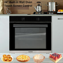 24  Built in Single Electric Wall Oven Tempered Glass W  Touch Screen Control