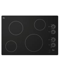 Whirlpool W5CE3024XB 30  Black Smoothtop Electric Cooktop NIB  15929 MAD