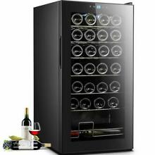 28 Bottle  Wine Cooler Refrigerator Quite Counter Top Digital Display