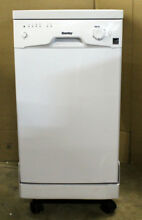 Danby 18  8 Place Setting Portable Dishwasher White   DDW1801MWP