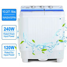 21lbs Portable Mini Semi Automatic Washing Machine Twin Tub Washer Spinner Dryer