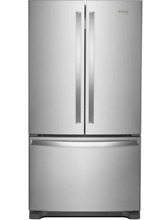 Whirlpool WRF535SWHZ 25 Cu  Ft  French Door Refrigerator   Silver   Brand New