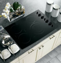 GE PROFILE 30  MODEL PP932BM2BB ELECTRIC COOKTOP BLACK